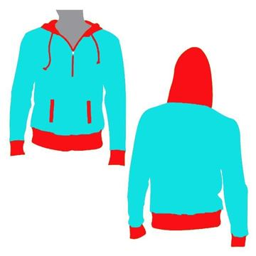 Picture of Beast Hooded Half Zip Style 835 Blank