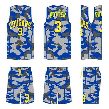 Picture of Basketball Kit Style 555 Custom
