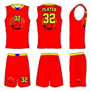 Picture of Basketball Kit Style 556 Custom
