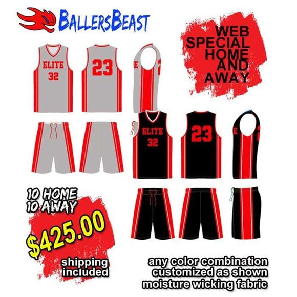 Picture of Basketball Kit Style 593 Special Package